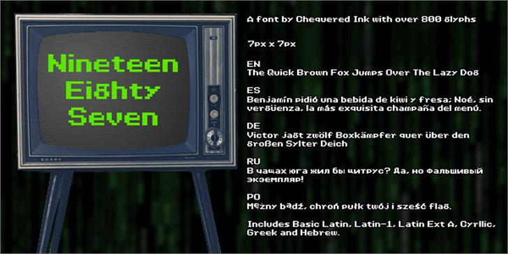 Nineteen Eighty Seven Font screenshot internet