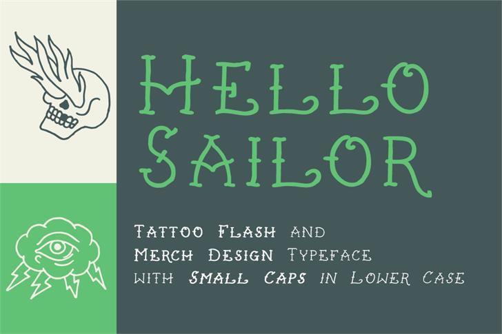 Hello Sailor Font screenshot text