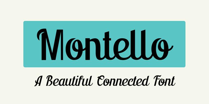 Montello DEMO Font design screenshot