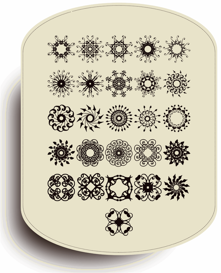 Rosette110621 Font pattern design