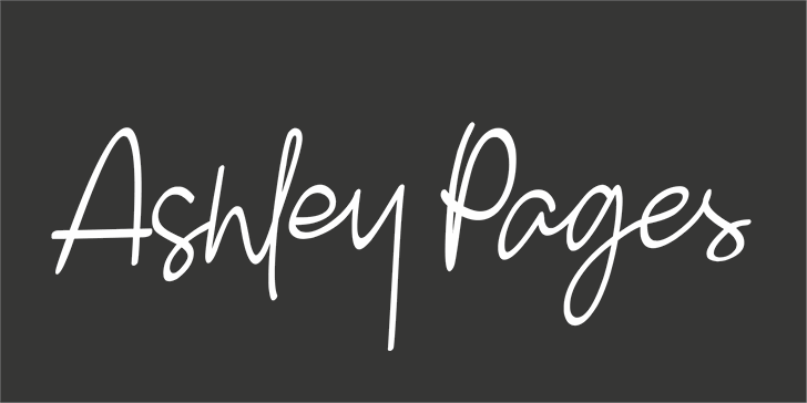 Ashley Pages Font design