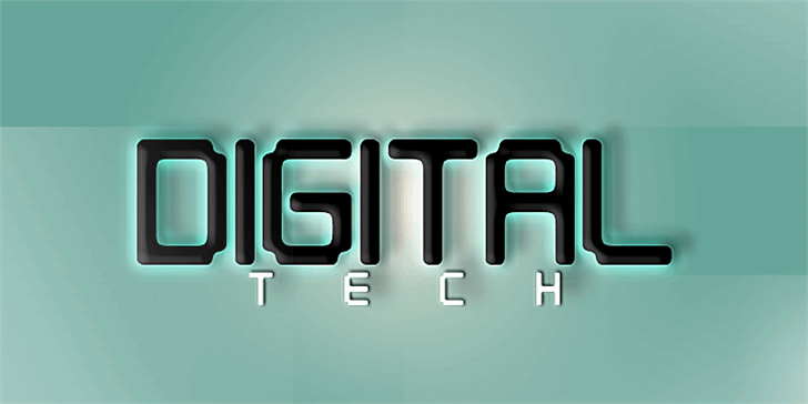 Digital tech font by Qbotype Fonts