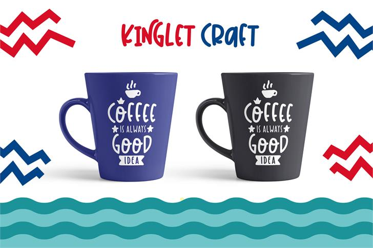 Kinglet Playful Font coffee cup tableware