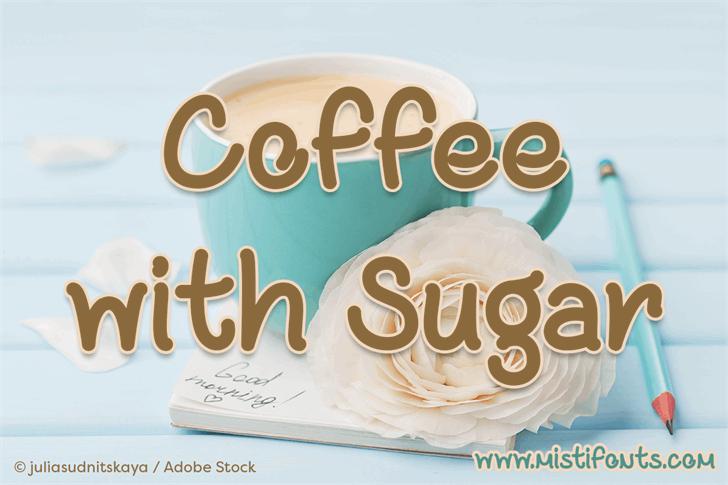 Coffee with Sugar Font food design
