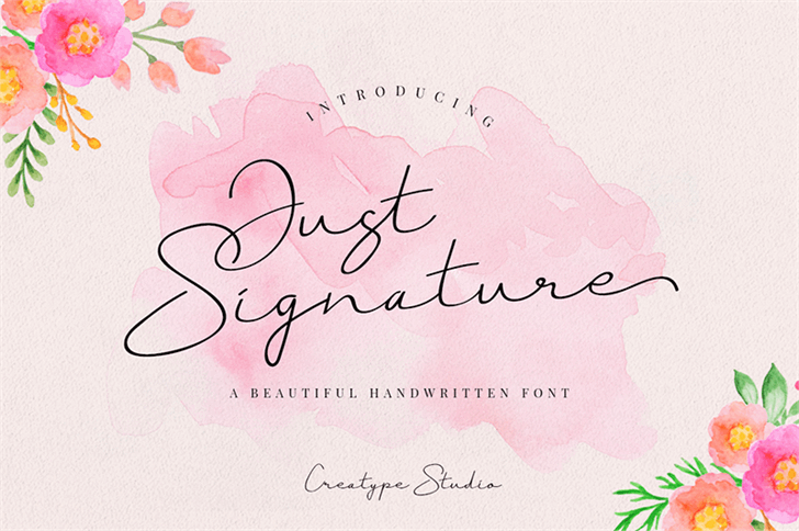 Just Signature font by Creatype Studio
