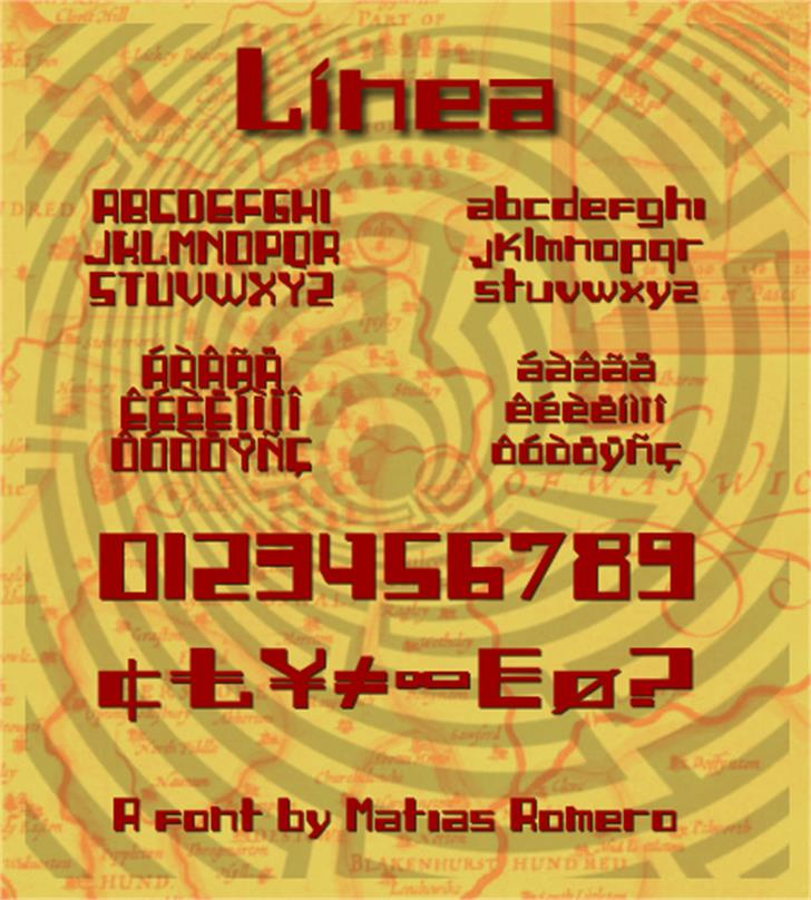 Linea Font poster text