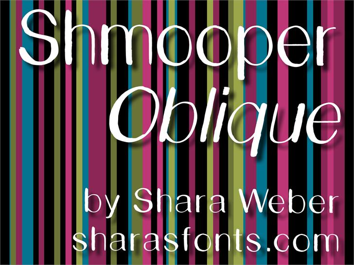 Shmooper Font screenshot design