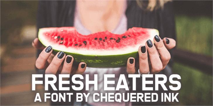 Fresh Eaters Font person fruit
