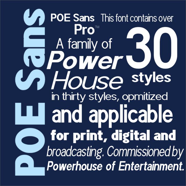 POE Sans Pro Font screenshot poster