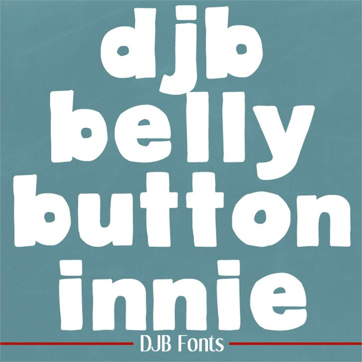 DJB BellyButton-Innie Font poster design