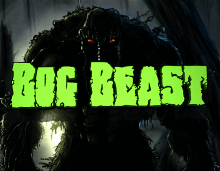 Bog Beast Font cartoon dark
