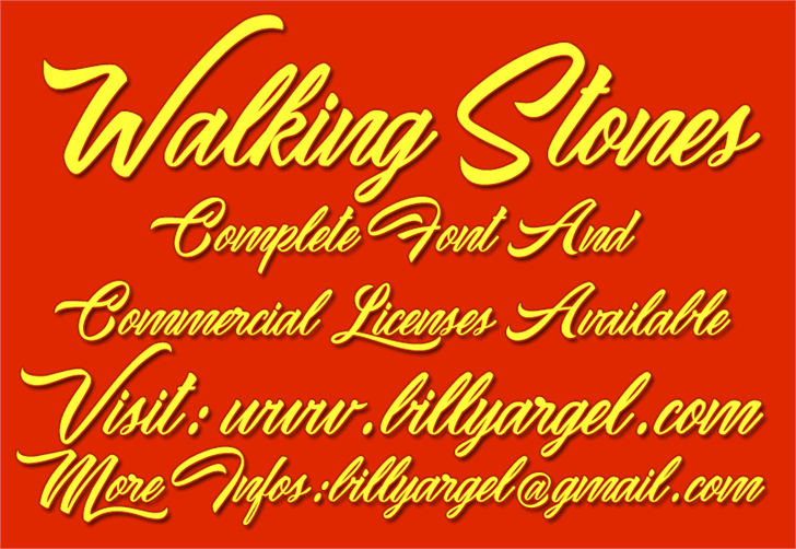 Waking Stones Personal Use font by Billy Argel