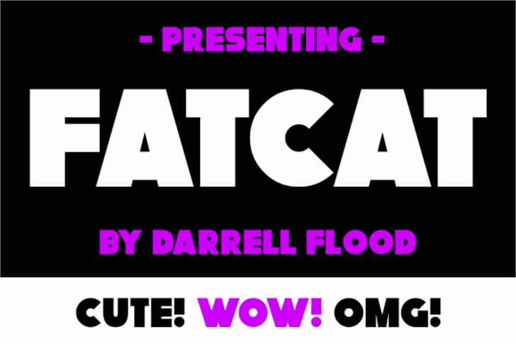 Fatcat Font screenshot design