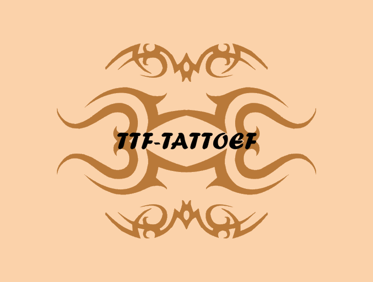 TTF_TATTOEF Font design cartoon