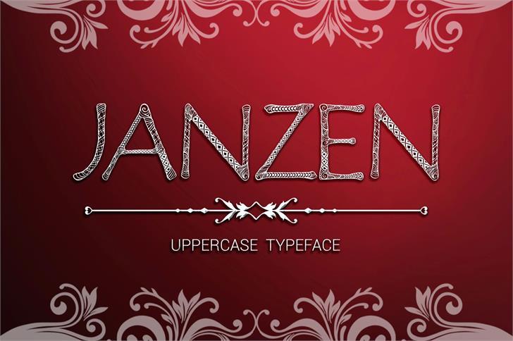 JanzenPersonalUse Font design text