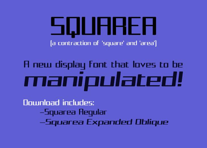 Squarea Font design graphic