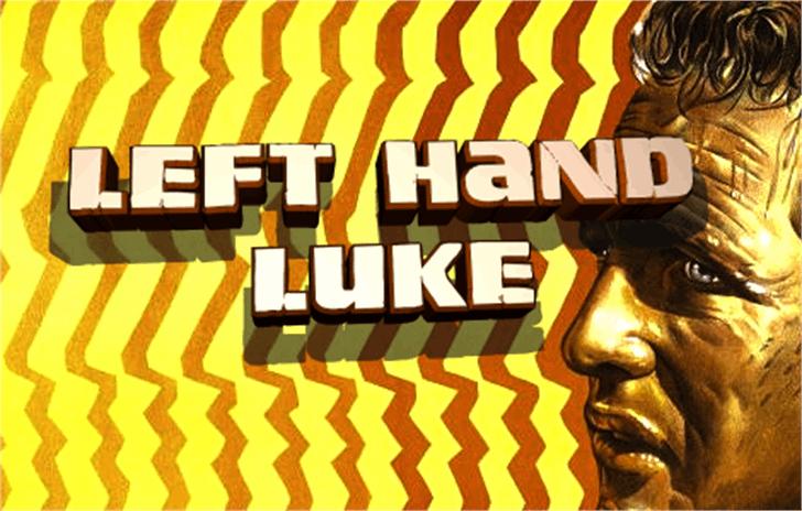 Left Hand Luke Font poster