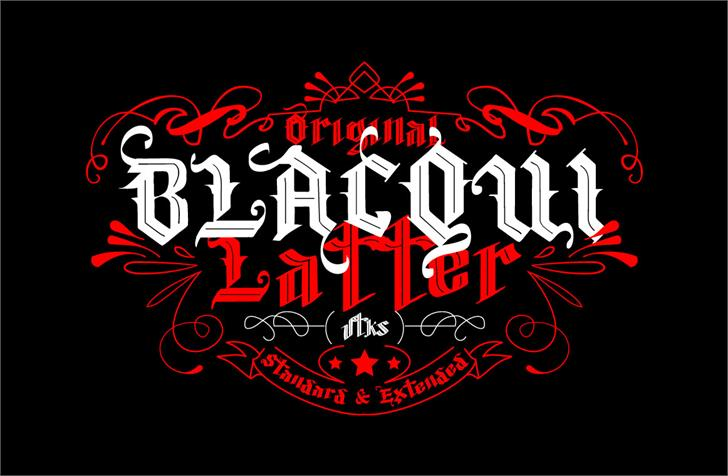 Vtks Blacqui Latter Font design graphic