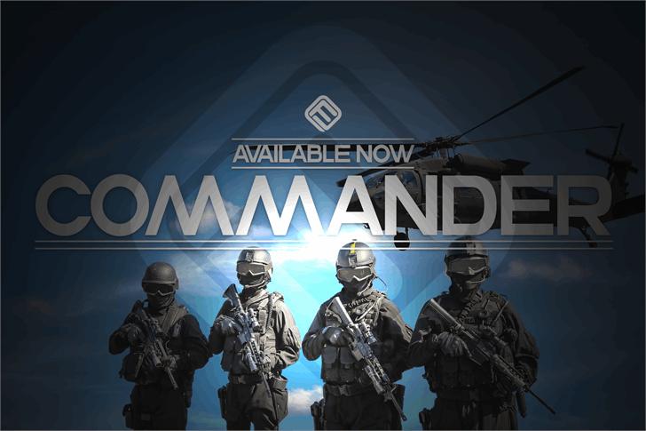Commanders Font screenshot outdoor