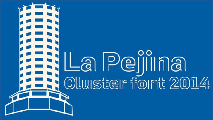 La Pejina ffp Font screenshot design