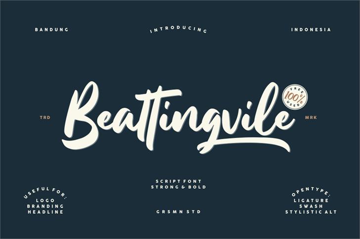 Beattingvile Font design typography