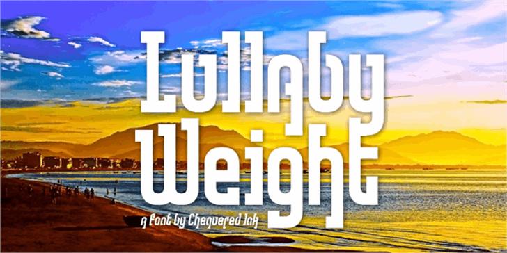 Lullaby Weight Font screenshot poster