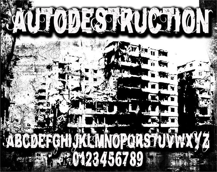 AutoDestruction Font poster text