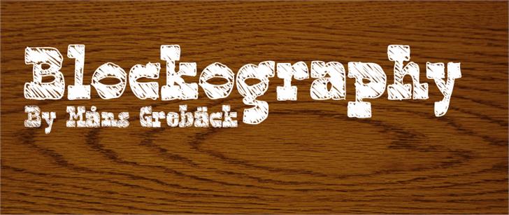 Blockography Font handwriting design