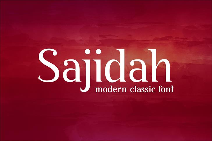 BY Sajidah font by byaboemair