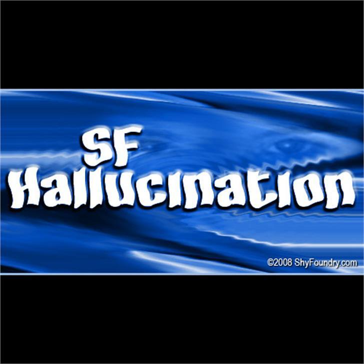 SF Hallucination Font screenshot electric blue