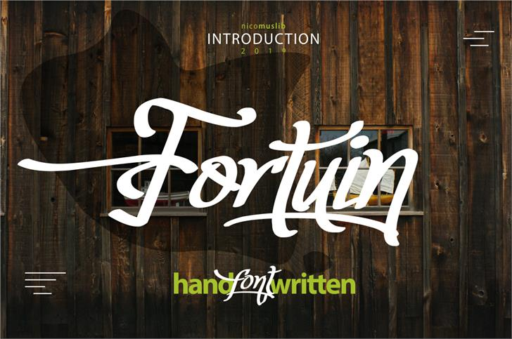 Fortuin Handlettering Font poster