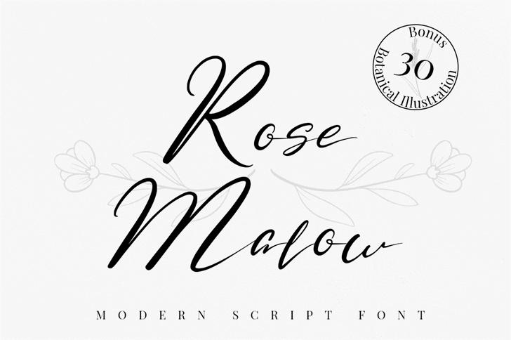 Rose Malow Font poster
