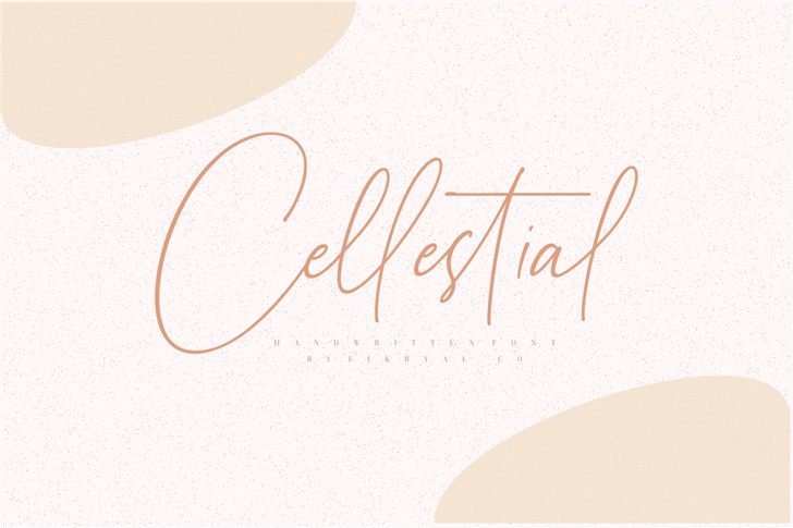 Cellestial Font handwriting