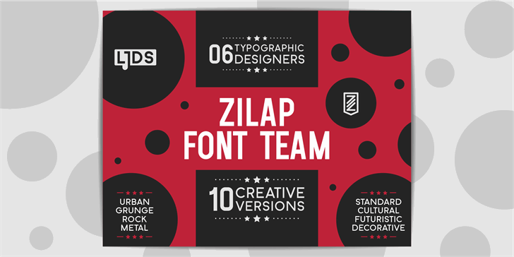 Zilap Font Team Font poster