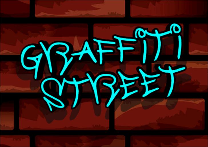 Graffiti Street Font outdoor cartoon