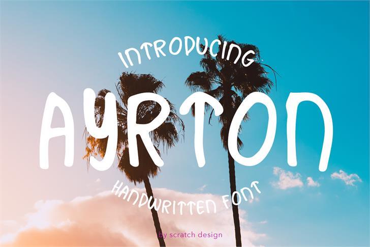 Ayrton Font design cartoon