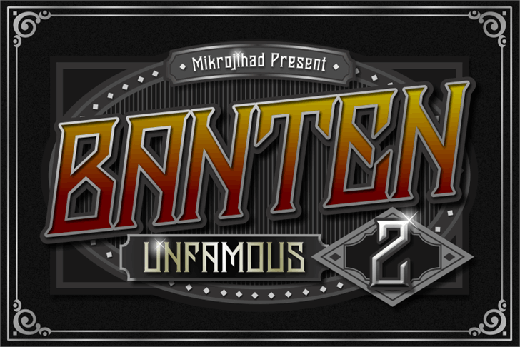 Banten Unfamous 2 DEMO Font poster