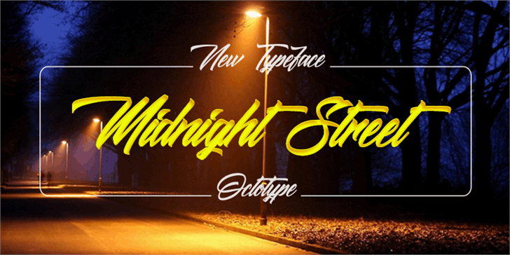 Midnight Street  Font text typography