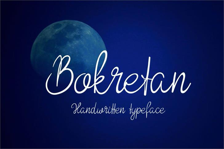 Bokretan font by Eva Barabasne Olasz