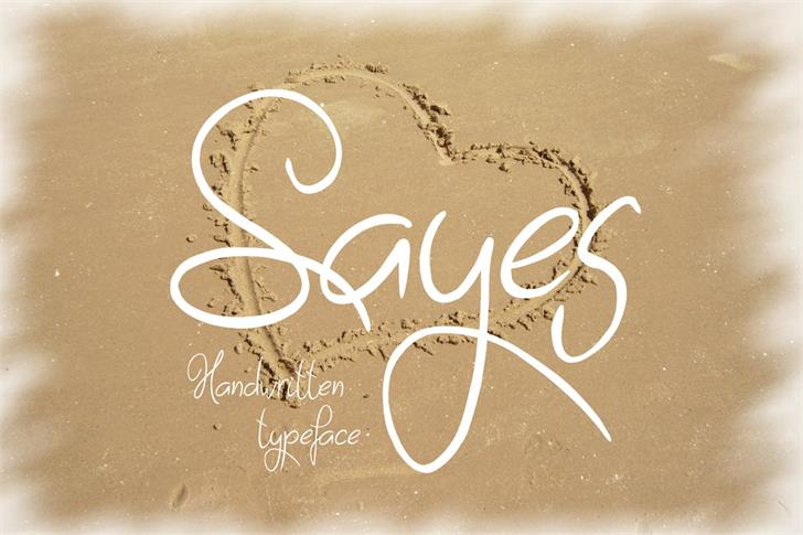 Sayes Font handwriting typography