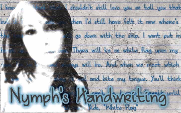 Nymph's Handwriting Font handwriting text