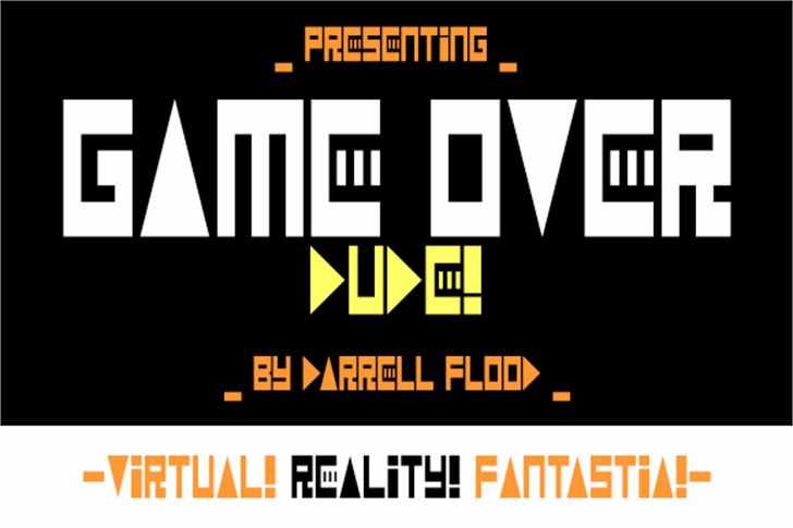 Game Over Dude Font design poster