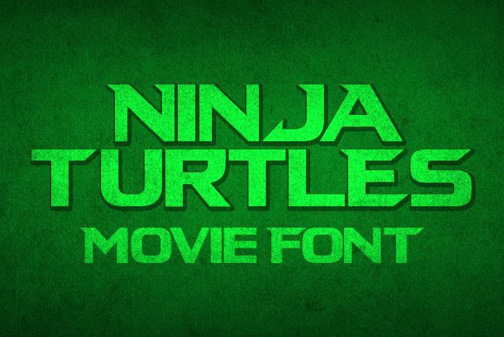 Ninja Turtles Font green font