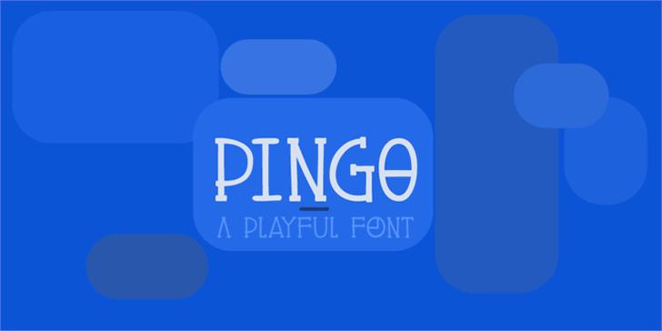 DK Pingo Font screenshot design