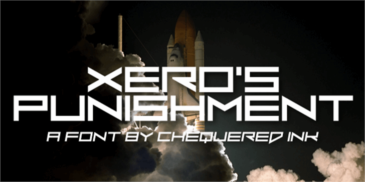 Xero's Punishment Font screenshot design
