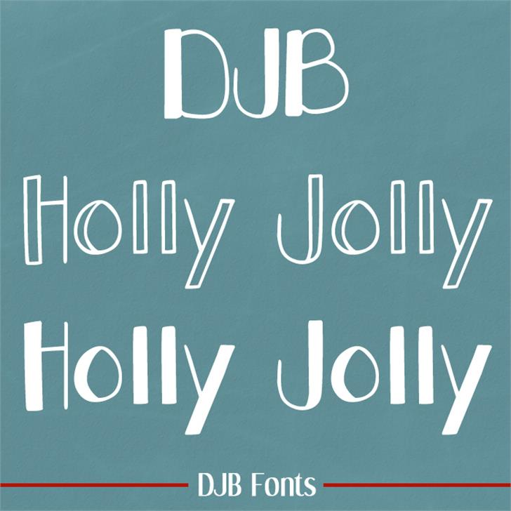 DJB Holly Jolly Font book text