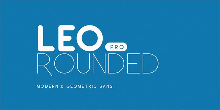 Leo Rounded Font poster