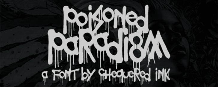 Poisoned Paradigm Font handwriting drawing