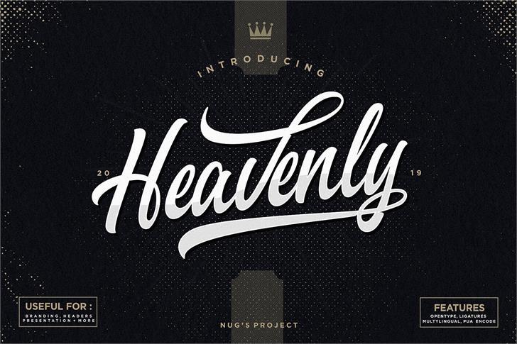 Heavenly  Font design book
