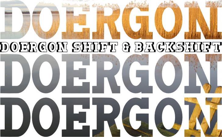 Doergon Font poster design